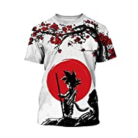 Plustrong Kids Boys Girls Summer 3D Print Short Sleeve T Shirt Top Tee (Dragon Ball 001, 7T-8T)