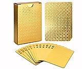 Joyoldelf permium Spielkarten Pokerkarten Skatkarten,mit 24K Goldfolie Poker,aufwendig Aussehen - Hoch Qualität für Ihr Poker Vergnügen