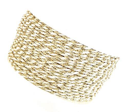 Kordel 50m x 2mm Creme Gold Drehkordel Kordelband Kordelschnur (Kordel Gold)