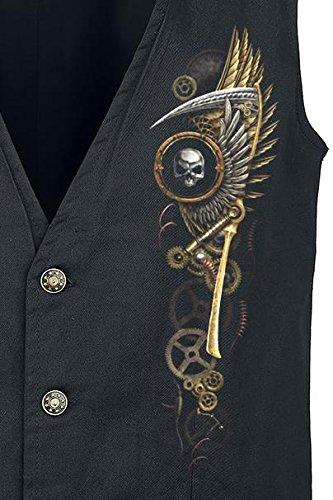 Spiral Steam Punk Reaper Veste sans manches noir Noir