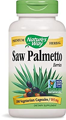Nature's Way Saw Palmetto Berries, 585mg, 180 Capsules from Nature's Way