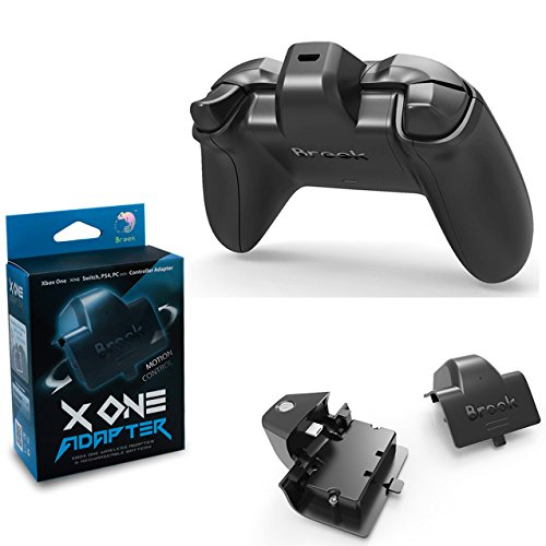 Mcbazel Brook X One Adapter Wireless Adapter & Rechargeable Battery for Xbox One Controller to PS4 NS Switch PC (Wireless Adapter Für Xbox One)