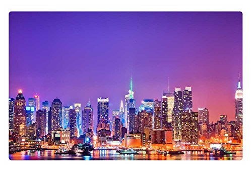 iRocket interior Suelo Alfombra/Alfombrilla–New York Skyline (23.6'x 15.7', 60cm x 40cm)