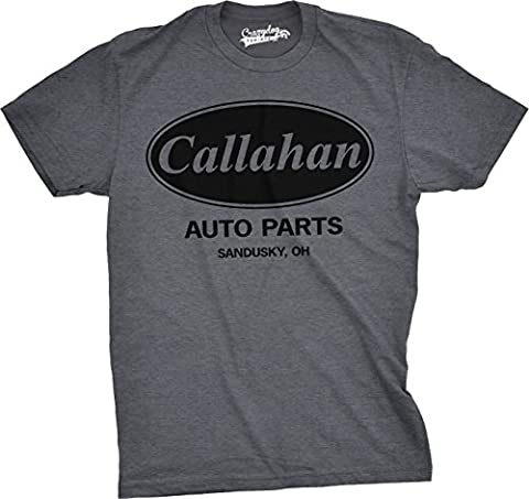 Crazy Dog TShirts - Mens Callahan Auto Parts T Shirt Funny Cool Comedy Movie Quote Company Logo Tee (Grey) - XXL - Homme
