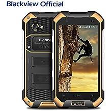 "Blackview BV6000S IP68 Smartphone libre - Impermeable Antipolvo Antigolpes Dual SIM Android 6.0 Móvil libre 4500mAh Batería, 2GB de RAM, 16GB de ROM, 4G, Cámara de 8MP/5MP, 4.7""HD, Quad Core Rugged Smartphone"