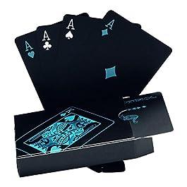 Carte da Poker, impermeabili Carte da Poker professionali in plastica nera. Un articolo di alta qualità per il piacere del poker.