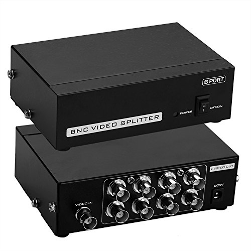 SIENOC 8-Port BNC Coax Composite Video Splitter Verteilungsverstärker CCTV DVR Bnc-video-splitter