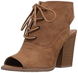 Qupid Womens Barnes-39a Ankle Bootie, Camel, 7 M US