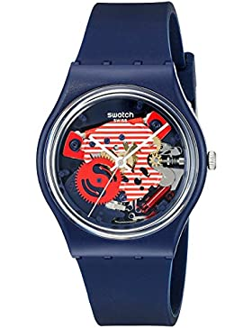 Swatch Unisex Erwachsene Armbanduhr Digital Quarz Silikon GN239