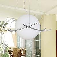 GS~LY Moderno e minimalista bianco latte lampadari di vetro