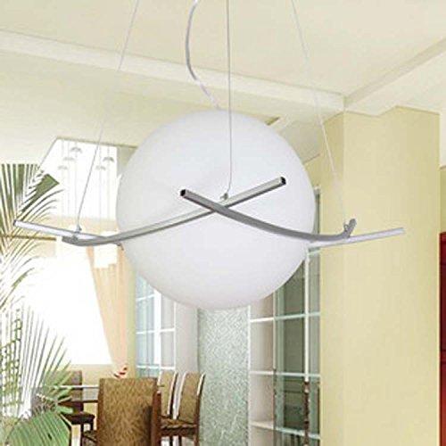 DZXYA Moderno e minimalista bianco latte lampadari di vetro