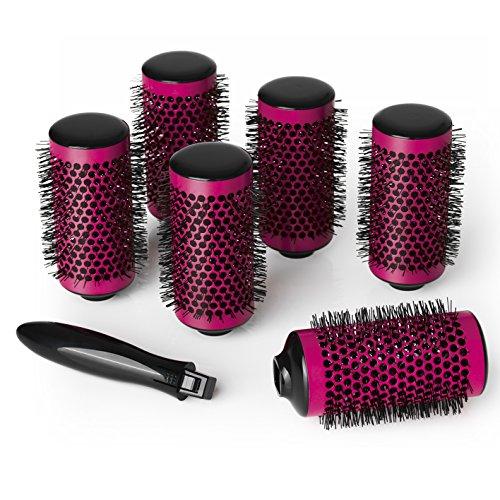 VITALmaxx 00675 Volumenstyler 2in1 | Lockenwickler und Rundbürste, 7-tlg. (Elektrischer Haar-lockenwickler-bürste)