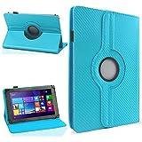 NAUC Schutzhülle für Ihr Jay Tech CANOX Tablet PC 101 Hülle Tasche Carbon Cover Case, Farben:Türkis