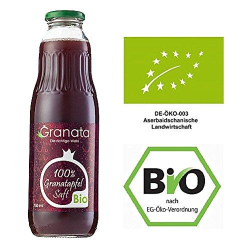 Bio Granatapfelsaft 100% Direktsaft 18 Flaschen (á 0,75 Liter), DE-ÖKO-003, Muttersaft Kernpressung