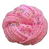 Kamoku101 Fluffy Slime Con Perle Floam Profumato Stress Sollievo No Borace Fango Giocattolo Kids Toy Rosa