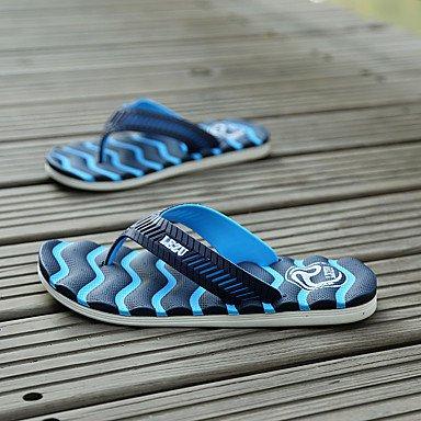 Slippers & amp da uomo;Comfort PU Estate casuale tallone piano Arancione Verde Blu Nero / sandali bianchi sandali US11.5 / EU45 / UK10.5 / CN47