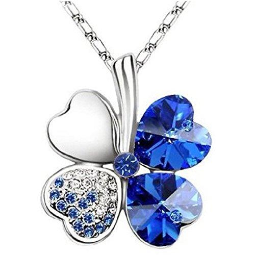 trod-peach-heart-four-leaf-lucky-luck-clover-pendant-necklace-rhinestone-crystal-inlayed-jewelry-blu