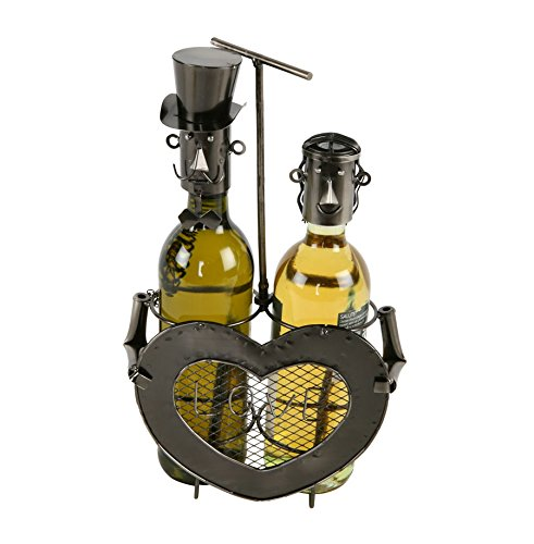 Brautpaar Flaschenhalter Metall Weinflaschenhalter Sekthalter Flasche Liebe Deko