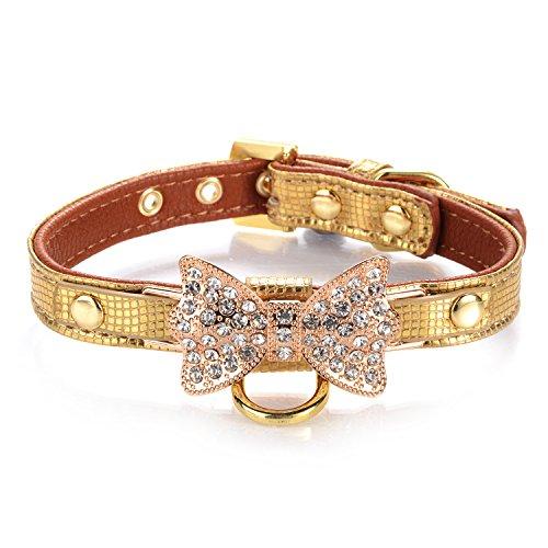LOVPE Collar piel diamante brillante dorado anillo