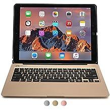 iPad Pro 12.9 Étui avec clavier, COOPER KAI SKEL A1 Coque dure avec clavier sans fil QWERTY bluetooth étui de transport avec power bank batterie pour Apple iPad Pro 12.9 (Or, Veille/Réveil)