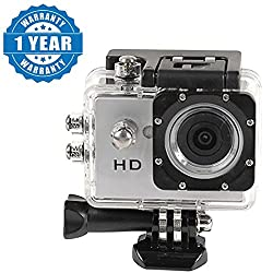 Captcha Action Camera 1080P Sport Waterproof Camcorder Outdoor Action Video Camera Suitable with all Android or Iphone Devices (1 Year Warranty, Color May Vary)