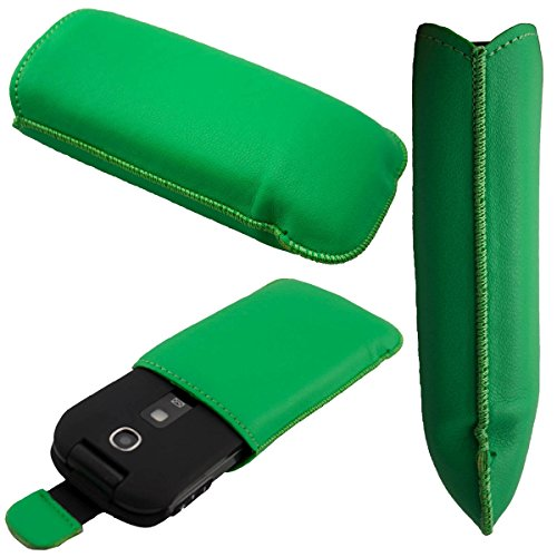 caseroxx Slide-Etui Handy-Tasche für Panasonic KX-TU327 TU328 TU329 TU339 TU349 aus Neopren, Handy-Hülle in grün