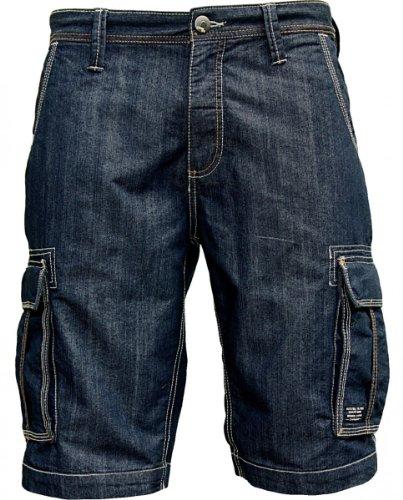 JACKS 50062DB Jeans Cargo Shorts Dark Blue Wash, Größe: L