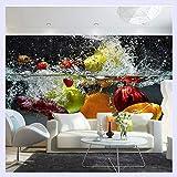 BHXINGMU Benutzerdefinierte Fototapete 3D Obst Große Wandbild Café Saft Getränke Shop Restaurant Wohnzimmer Hintergrund Tapeten Wohnkultur 190Cm(H)×250Cm(W)