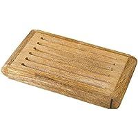 Tabla de cortar pan de madera rusticity | hecho a mano | (10x 6en)