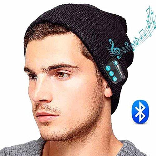 ULTRICS® Bluetooth Headset Hat - Drahtloser Musik Beanie Hut mit Stereo Lautsprecher Kopfhörer, Mikrofon Freisprechen für Anrufe und Musiksteuerung für alle Smartphones und Smartphones