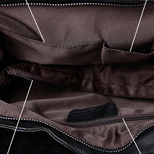 Mefly Leder Handtasche Kette Nähen Stoff Schulter Tasche large