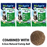 Biokat Classic Fresh 3in1 Scented Cat Litter 30L Antibacterial Disposable And Hypoallergenic Hygiene Granules With Smell Control Formula Combined With 4.5cm Natural Catnip Ball