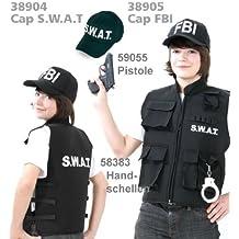 s.w.a.t Chaleco SWAT Police Chaleco Negro Niños tamaños: 128–164