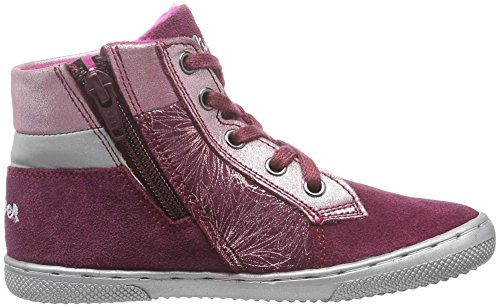 s.Oliver 35216, Sneakers Hautes Fille Rose (Fuxia Comb 599)