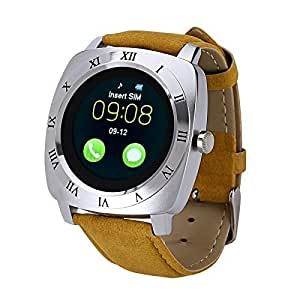SYL Plus Smart Watch with Camera and Sim Card Support Compatible for All 3G & 4G Android/iOS Smartphones (Silver)