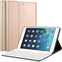"iPad Mini 1/2/3 funda con teclado - LUCKYDIY 7.9 ""cubierta del soporte Ultra Slim Shell con teclado Bluetooth desmontable magnéticamente QWERTY para Apple iPad Mini 1 / Mini 2 / Mini 3"