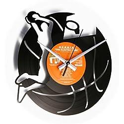 Baloncesto: Reloj de pared con disco de vinilo–idea regalo Disco Vinilo para jugadores baloncesto