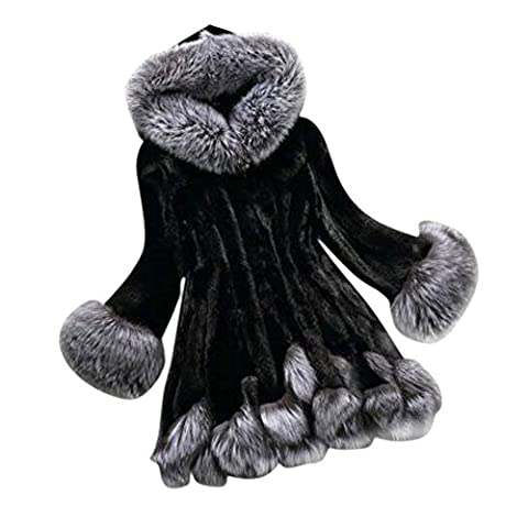 Manteaux Hiver Femme - EXIU Femmes Automne Hiver Manteau à capuche