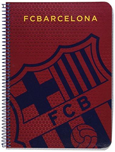 Safta 511572065 Notizbuch FC Barcelona, Hardcover, 16 x 3 x 22 cm - Blau/Granit