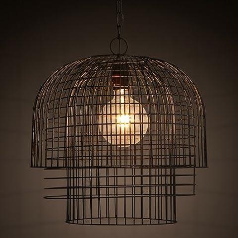 KHSKX La Cinese-stile ferro battuto birdcage chandelier luce personalità creative