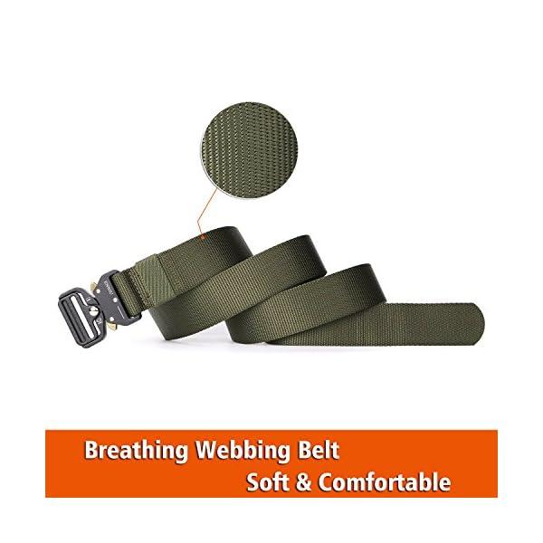 FEIKCOR Cinturón Táctico Cinturón Resistente para Hombres Cinturón Militar DE 1,5 '' Cinturones de Fijación Rápida… 12