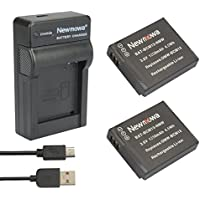 Newmowa DMW-BCM13 Battery (2-Pack) and Portable Micro USB Charger kit for Panasonic DMW-BCM13, DMW-BCM13E, DMW-BCM13PP and Panasonic Lumix DMC-FT5, DMC-LZ40,DMC-TS5, DMC-TZ37, DMC-TZ40, DMC-TZ41, DMC-TZ55,DMC-TZ60,DMC-ZS27, DMC-ZS30,DMC-ZS35,DMC-ZS40,DMC-ZS50 (2 battery + 1charger)