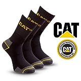 Pack of 3 Caterpillar Work Socks Cotton Mens in Black Size UK 11-14 - Bulk Options