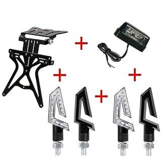 Kit für Motorrad Kennzeichenhalter UNIVERSAL + 2Paar Blinker + Kennzeichenbeleuchtung Lampa Gilera SMT 502004-04