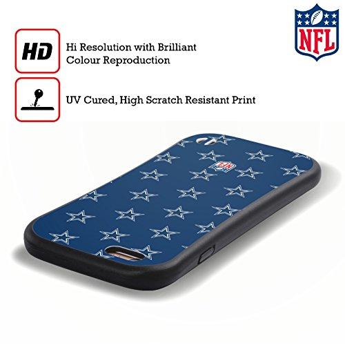 Ufficiale NFL Pattern 2017/18 Dallas Cowboys Logo Case Ibrida per Apple iPhone 6 / 6s Pattern