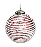 Glas Weihnachtskugeln 4 Stück Strudel Ø 10cm rot