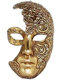 Máscara veneciana completa Volto Luna Mac para hombres y mujeres ...