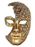 Masque vénitien intégral Volto Luna Mac pour homme et femme (or)