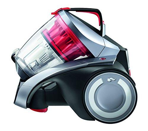 Dirt Devil REBEL52HF Infinity Rebel 52 HF aspirapolvere Senza Sacchetto multiciclonico Grigio, 1000 W, 80 Decibel, Nero/Rosso