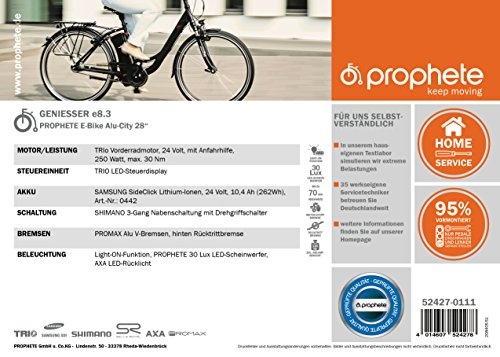 PROPHETE E-Bike Alu-City 28″ NAVIGATOR 7.3 - 2